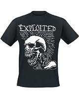 The Exploited Mohican Skull T-Shirt black