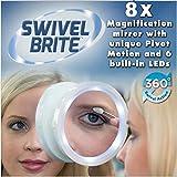 LED Lights Makeup Cosmetic Mirror 8x Magnifying Glass Swivel Pivot Motion Beauty
