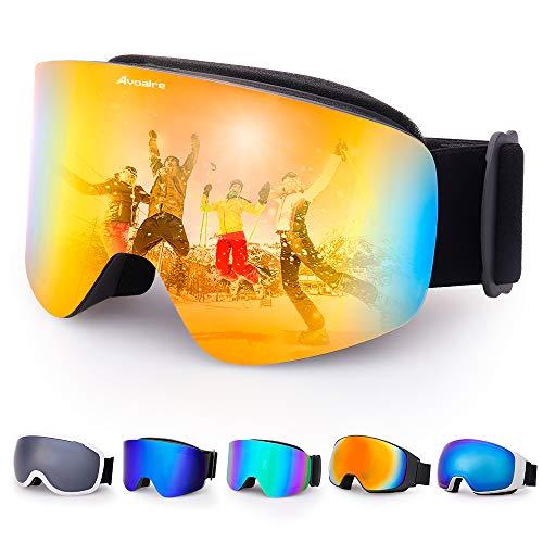 Avoalre Lunettes de Ski Protection Adulte Masque de Ski Femme et Homme  Masque Ski Snowboard Neige 5499d296d812