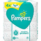 Pampers Sensitive Protect Baby Wipes - 4 Packs (224 Wipes)