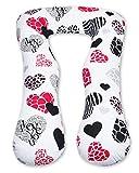 Amilian® Kissenbezug für Schwangerschaftskissen Lagerungskissen Relaxkissen I LOVE YOU Rot TYP A