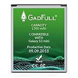 GadFull Akku kompatible mit Samsung Galaxy S3 Mini | 2018 Baujahr | Entspricht dem original EB-F1M7FLU | Kompatible mit Galaxy Ace 2 i8160 | Galaxy S3 Mini i8190 | Galaxy S Duos S7562