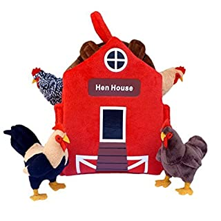 ADORE 12 Chicken Coop Hen House Plush Playset Carrier by Adore Plush Company