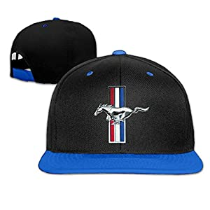 Huseki ABSOP Ford Mustang GT Adjustable Snapback Hip-hop Baseball Cap Royalblue
