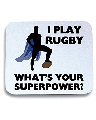 Cotton Island - Tappetino Mouse Pad TRUG0064 rugby superhero logo,