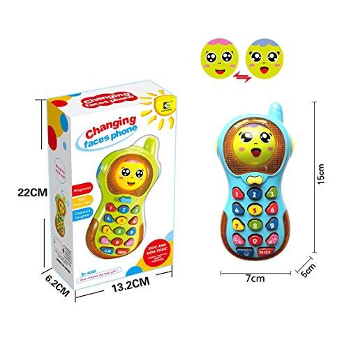 (Spielzeug Telefon 6 Monate alt Jungen Baby Mädchen, Spielzeug Telefon 1 Jahr alt Baby Boy Mädchen Kind Kinder Geschenk Baby Mädchen Baby Spielzeug 3-12 Monate Geburtstagsgeschenk Baby)
