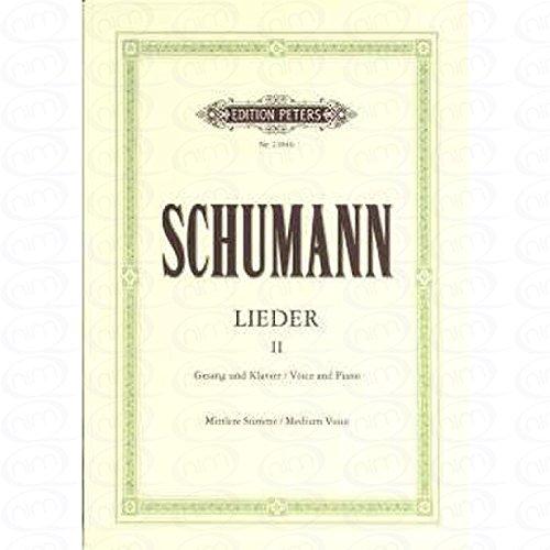 LIEDER 2 - arrangiert für Gesang - Mittlere Stimme (mezzo / Medium Voice) - Klavier [Noten/Sheetmusic] Komponist : SCHUMANN ROBERT (Zwei Sonnen Am Himmel)