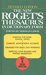 The New Roget's Thesaurus in Dictionary Form