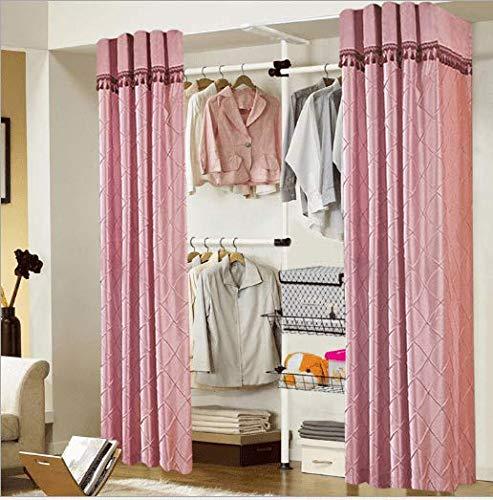 ZHFC kleiderständer Einfach Tuch kabinett Falten stahlrahmen verstärkung Stock Schlafzimmer Schrank Bekleidung Sammlung - Schlafzimmer Schrank Sammlung