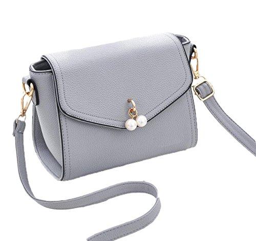 Ms. Messenger Bag Semplice Borsa A Tracolla Di Modo Della Borsa Sacchetto Estate Selvaggia Piccolo Pacchetto Quadrato Grey1