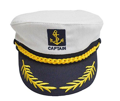 Lukis Kapitänsmütze Kinder Hüte Mütze Baumwolle Sommermütze Weiß (Seemann Kostüm Hüte)