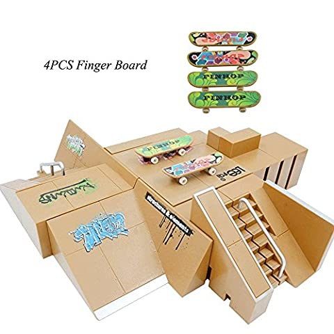 Creation® 13PCS Skatepark Kit Ramp Teile für Tech Deck Finger Skateboard ultimative Sport Sporttraining Props