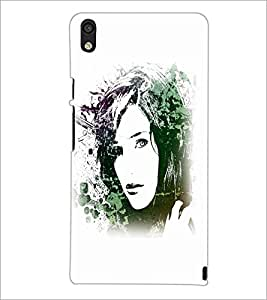 PrintDhaba Face D-5613 Back Case Cover for HUAWEI ASCEND P6 (Multi-Coloured)