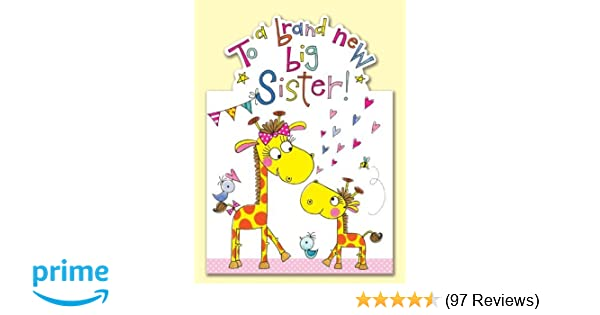 To A Brand New Big Sister Card Designed By Rachel Ellen Amazoncouk Kitchen Home
