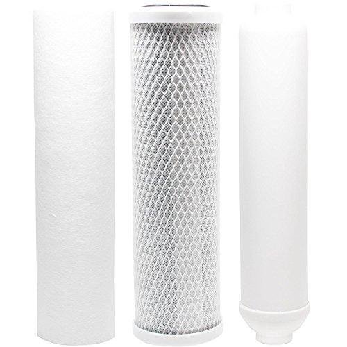 Ersatz Filter Kit für Vertex PT 4.0RO System-inkl. Carbon Block Filter, Sediment Filter & Inline Filter-Kartusche von CFS -