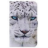 Funluna Samsung Galaxy Tab 4 7.0 Hülle, Stoßfest PU Leder Tasche mit Auto Schlaf/Wach & Ständer Funktion Dokumentschlitze Folio Schutzhülle für Samsung Galaxy Tab 4 7,0 SM-T230/T235, Panther