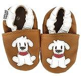 HOBEA-Germany Krabbelschuhe in verschiedenen Farben und Designs mit Tieren , Modell Schuhe:Hund Fiffi, Schuhgröße:24/25 (24-30 Monate)