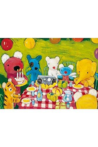 Puzzle Wil d'art en bois pour enfant-12 pièces-L'anniversaire de Penelope HALLENSLEBEN