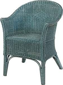 rattansessel natur in der farbe blau versandkostenfrei in de rattanstuhl lounge. Black Bedroom Furniture Sets. Home Design Ideas
