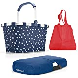 reisenthel Exklusiv-3er-Set: carrybag PLUS cover PLUS mini maxi shopper (spots navy - navy - red)