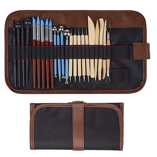 Aipaide Keramik Werkzeug,24 Stück Ton Werkzeug Modellierwerkzeuge Set,Töpfer Werkzeug für Fimo, Keramiklehm, Wachskerzen