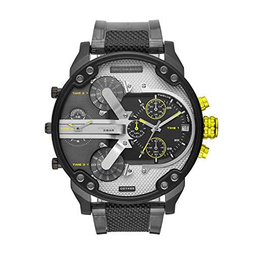 Diesel Herren Analog Quarz Uhr mit PU Armband DZ7422