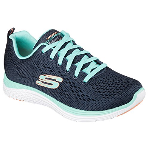 Skechers Valeris Back Stage Pass Damen Laufschuhe Blau