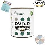 Smartbuy 500-disc 4.7GB/120min 16x DVD-R Silver Inkjet Hub Printable Blank Media Disc + Micro Fiber Cloth