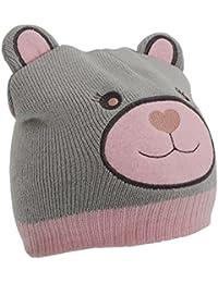 Bonnet à motif ours - Fille