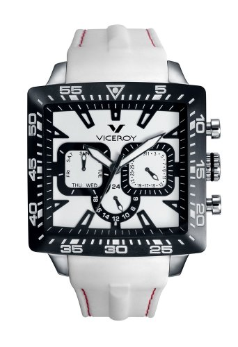 Viceroy Fun Colors Squared Collection Unisex Multifunction Watch 432101-05 With Rubber Strap