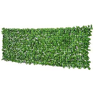 Outsunny Künstliche Hecke Sichtschutzhecke Terrasse Wanddekoration Wanddekoration Hellgrün 300 x 100 cm