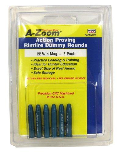 A-Zoom, Cartuccia salvapercussore, calibro 6, 22 Win. Magnum, Giallo (Yellow), 6 pz. - Cartuccia Magnum