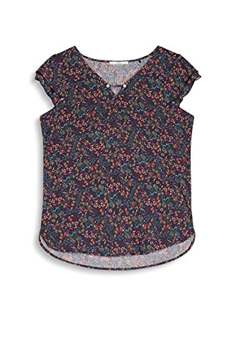 edc by Esprit, Blouse Femme Multicolore (Dark Blue)