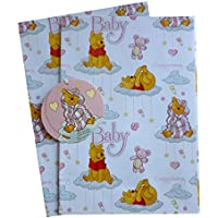 Baby Girl–Winnie the Pooh Gift Paper/Wrapping Paper Plus tag carta regalo (Disney)