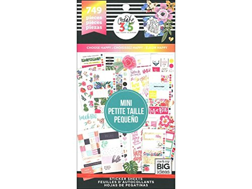 Create 365 Happy Planner Sticker Value Pack - Choose Happy - Mini, 749 Per Package (Pack of 1 )