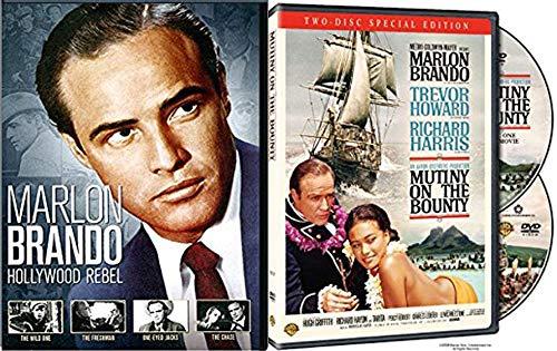 Film's Hollywood Reel Marlon Brando DVD Collection Wild one / Freshman / One-Eyed Jacks / Chase + Mutiny on the Bounty sea voyage 5-Movie Bundle