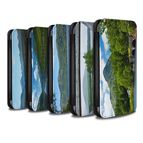 Stuff4 Coque/Etui/Housse Cuir PU Case/Cover pour Apple iPhone X/10 / Montagnes/Loch Design / Campagne Écossais Collection Pack 14pcs