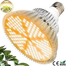 MILYN 100W LED Pflanzenlampe E27 150 LEDs Vollspektrum Pflanzenlicht LED Grow Light, Achstumslampe ähnlich dem Sonnenlichts für Garten Gewächshaus Zimmerpflanzen Sämling Gemüse, Blumen