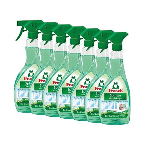 7x Frosch Spiritus Glas-Reiniger Sprühflasche 500 ml