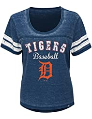 "Detroit Tigers Mujer Majestic MLB ""Loving el Juego Mezcla de"" Dual Camisa, MLB, color , tamaño large"