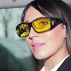 Kawachi HD Night Vision Wrap Around Glasses