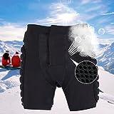 Sci skate snowboard 3D protezione hip EVA imbottita pantaloni corti impatto protettiva Gear, Black