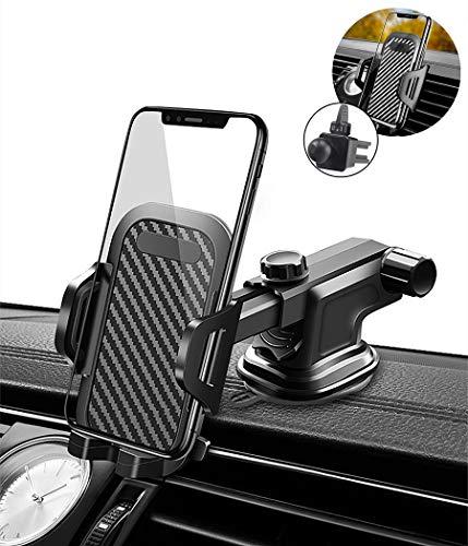 Handy Autohalterung, Handyhalterung für Lüftungsschlitze Armaturenbrett Windschutzscheibe - Schnellverschluss für iPhone XR XS X8 7 6s Samsung Galaxy S7 S8 S9 Note Huawei OnePlus, Android Smartphone
