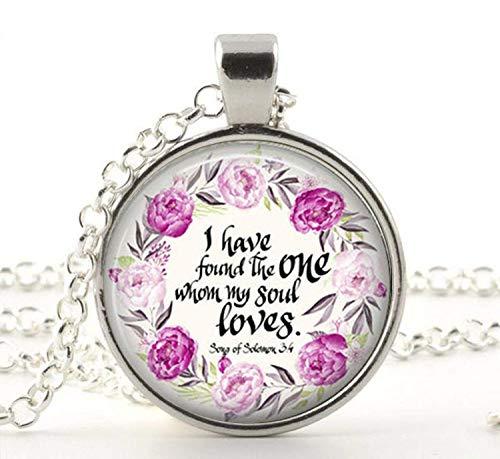 I Have Found The One My Soul Loves Bibelvers Halskette Geschenk Liebesgeschenk Valentinstag Geschenk Brautparty Geschenk ()