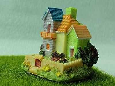 Villa(4) aus Harz DIY Gartendeko Puppenhaus-Ausschmückung Miniatur Mini-Welt als Geschenk von Fortag auf Du und dein Garten