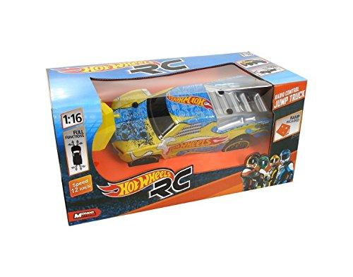 Hot Wheels - Truck RC, camión con rampa (Mondo Toys 63257)