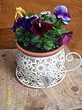 Shabby Vintage Chic Tea Cup Planter Plant Pot Holder