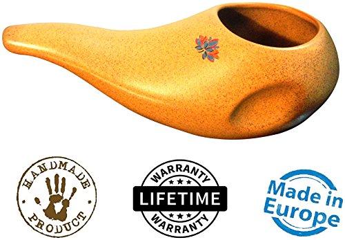 Sattvic Path Keramik-Neti-Kännchen, Nasenspülkännchen, ergonomisch, handgefertigt