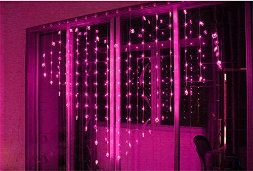 Deseshenme luci di natale di san valentino decorazione 2 * 1.5m 128 led amore cortina di ghiaccioli string lights new year wedding party ghirlanda di luce, rosa
