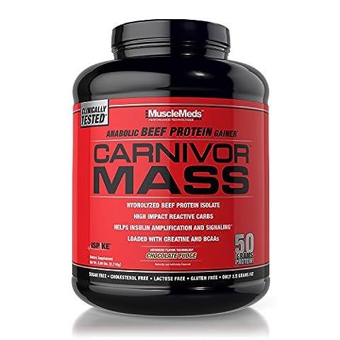 MuscleMeds Carnivor Mass Chocolate Fudge Powder 2.5Kg